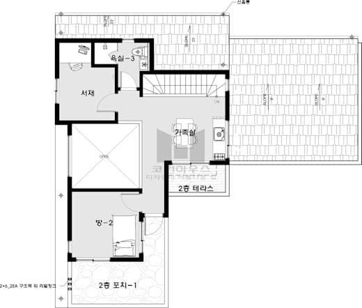 2층 평면도 코원하우스의 평면도 집 작은 집