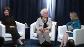 Laura, Jenna, and Barbara Bush interviewed by Savannah Guthrie - YouTube