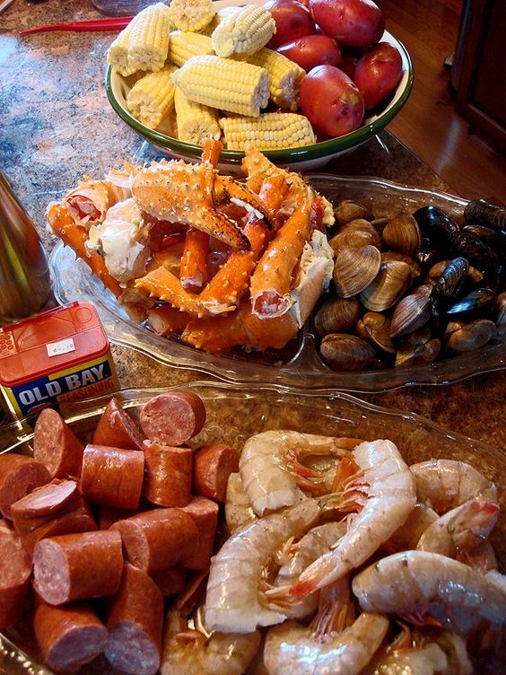 Seafood Boil. You've maybe heard it called many names: Frogmore Stew, Beaufort Stew, Lowcountry boil, Louisiana Crawfish boil or a tidewater boil.   Traditionally, you'll find them in places like Louisiana, South Carolina and New England, as well as some other coastal States that focus on their regional seafood and side dishes. There is no written rule as to what goes in the pot, but most agree that it should be well-seasoned!