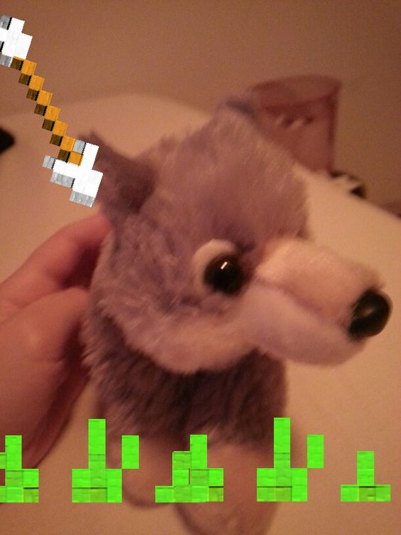 HAHA i edited this photo of a stuffed animal