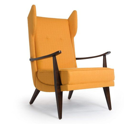Carter Chair... this is a kewl funky chair... it kinda looks like the 60s mid century modern version of a wingback chair...