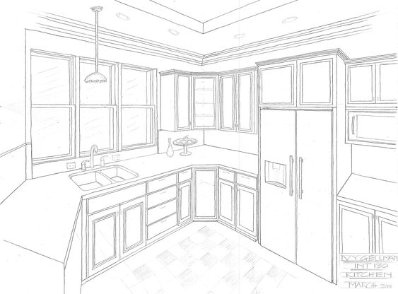 2 Point Perspective Interior Easy