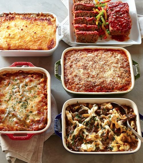 Five prepared dishes shipped frozen - all you have to do is bake until they're bubbly  http://rstyle.me/n/nn72apdpe #food #cuisine