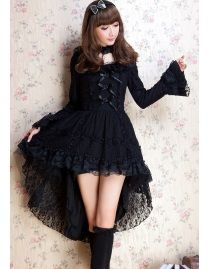 robe gothique lolita noire glp robe gotic pinterest. Black Bedroom Furniture Sets. Home Design Ideas