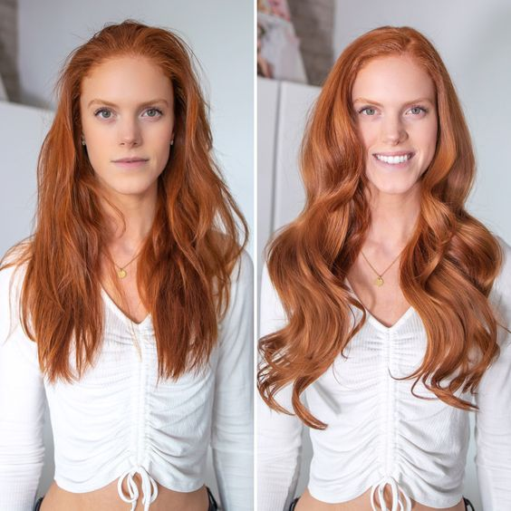 Clip In Hair Extensions Natural Red Color 30 160 Grams Ginger Hair Color Natural Red Hair Light Red Hair