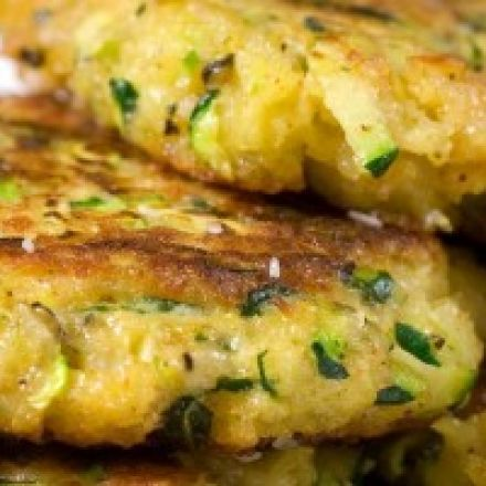 Galette de courgette au fromage frais