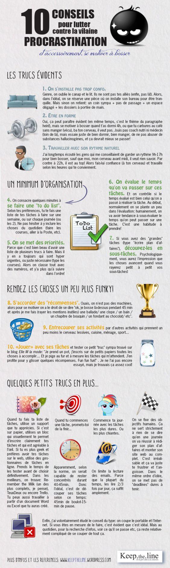 10 conseils pour lutter contre la vilaine procrastination !