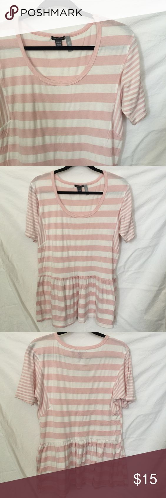 maternity pink + white striped top washed but not worn. like new condition. purchased from a pea in the pod. A Pea in the Pod Tops Tees - Short Sleeve