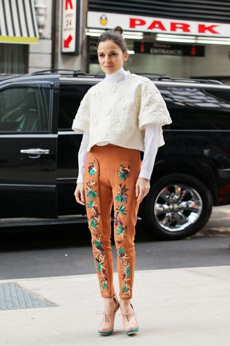 How To Embellish Your Spring Wardrobe #refinery29  http://www.refinery29.com/embellished-clothing#slide2  Or, maybe boldly embellished pants, like these Delpozo trousers, are just what you need to jump-start your spring wardrobe.