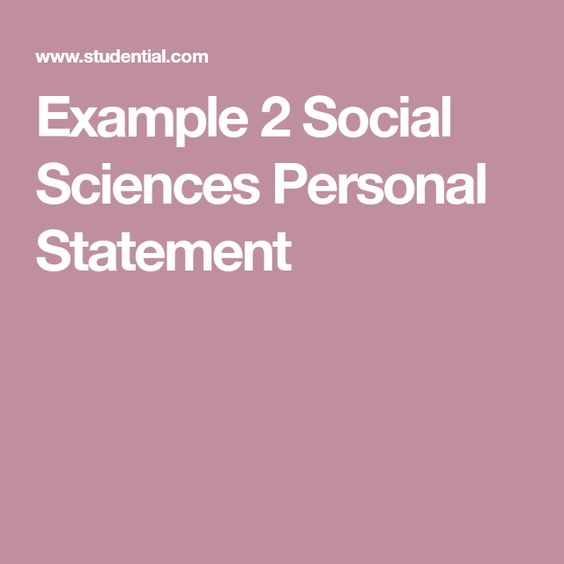 Pin On Personal Statements Social Science Statement