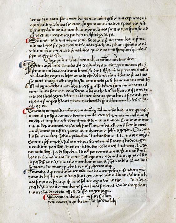 Ms. 211, f. 8v: Donación de la biblioteca de Juan de Segovia (1457)