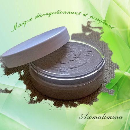 Masque visage décongestionnant/purifiant 4 actions 50ml Bio : Soin, bien-être par aromalimina