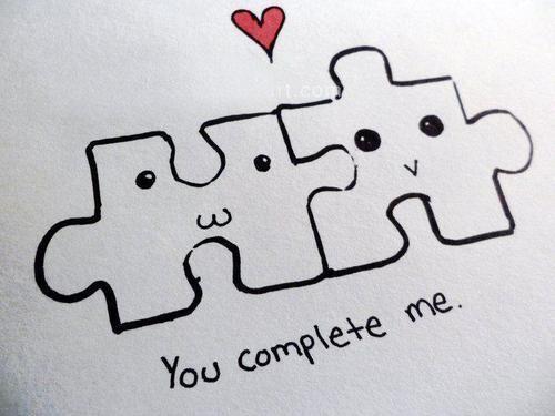 Amor Tumblr - Você me completa