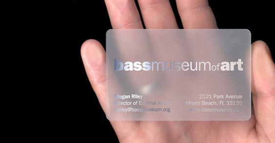 25 Clear Plastic Business Cards Design | The Design Work
