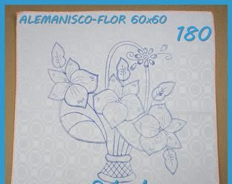 Alemanisco 45x50cm Flores Para Bordar Esquemas En Alemanisco Etsy Hawaiian Quilt Patterns Vintage Embroidery Transfers Embroidery Patterns