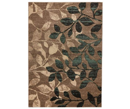 Living Colors Nobel Leaves Area Rug 5 X 7 Big Lots Area Rugs Rugs Affordable Rugs