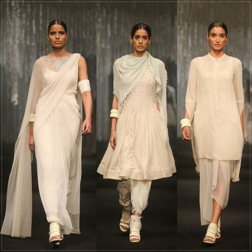 Pristine Ivoy Drapes from the Tarun Tahiliani Spring Summer 2016 Collection on…