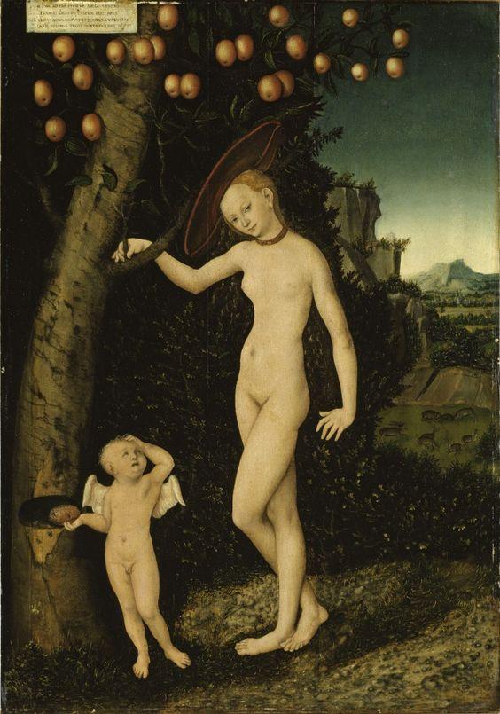 Venus y Cupido, el ladrón de miel (1527). Palacio de Güstrow, Güstrow