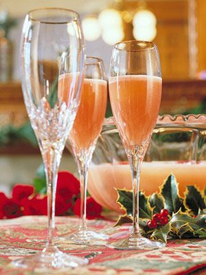 Punch frozen and non alcoholic on pinterest for Champagne drinks with fruit