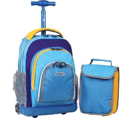 Lollipop Kids Rolling Backpack & Lunch bag | Rolling Backpack ...