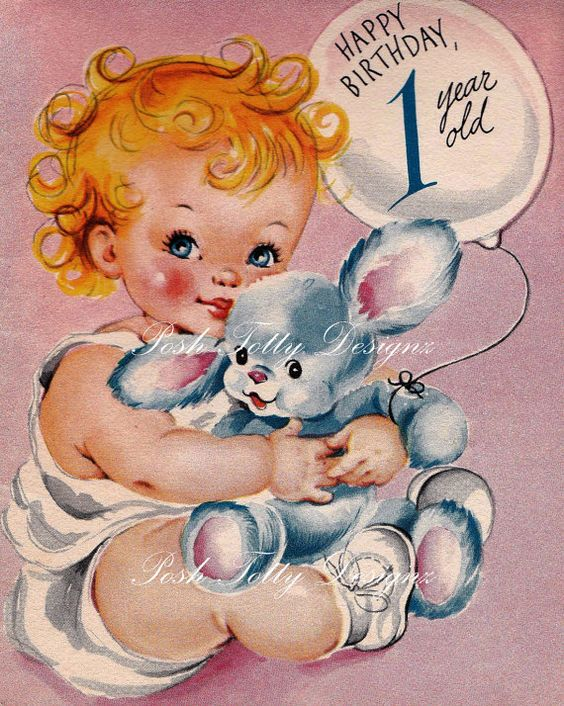 Vintage 1950s Norcross To Welcome Your Little by poshtottydesignz