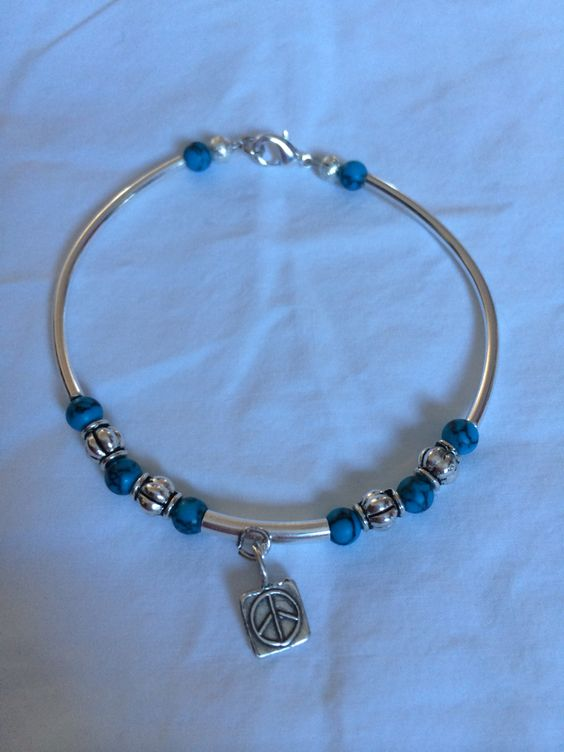 Boho Sterling silver/silver wrap charm bracelet