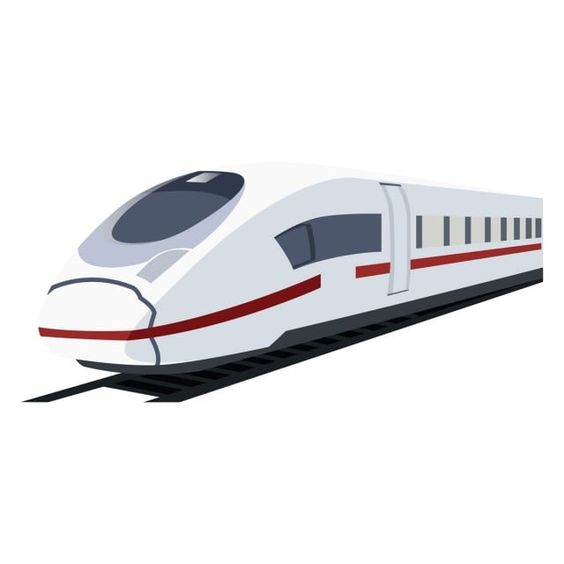 Vector Illustration Of White Metro Train Bullet Station Speed Png And Vector With Transparent Background For Free Download Train Cartoon Train Illustration Train Vector