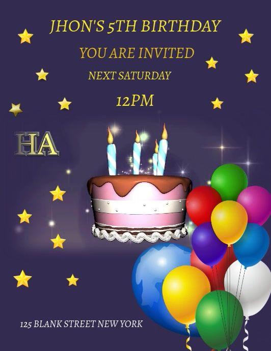 Happy Birthday Template Happy Birthday Template Birthday Invitation Templates Birthday Template