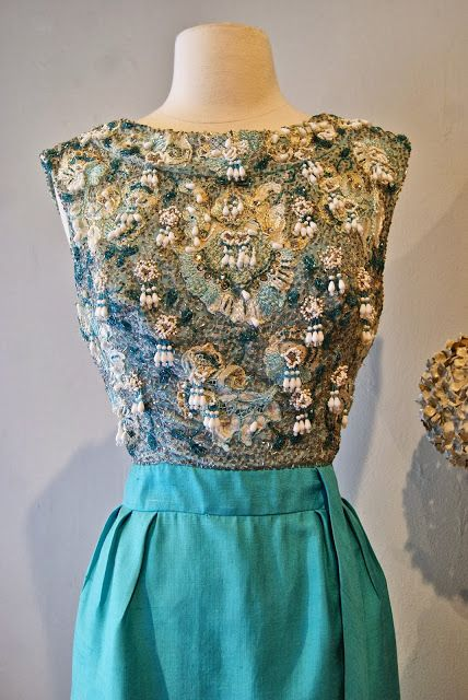 Vintage Dress : 1960s Pat Sandler beaded cocktail dress at Xtabay ...