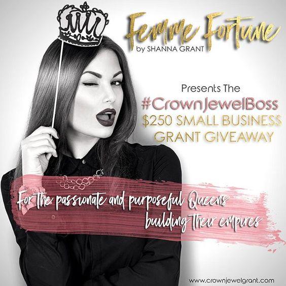 ATTN: #GirlBosses!! @FemmeFortuneBiz will be launching their grant program for women entrepreneurs called the Crown Jewel! The…