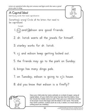 A Capital Idea! - Free English Worksheet for Kids | summer school ...