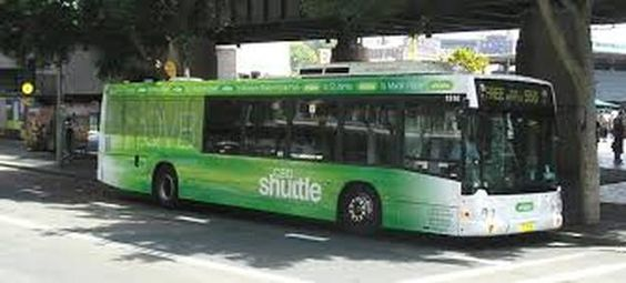 Free bus? Yes please! The 555 free shuttle in Central Sydney.