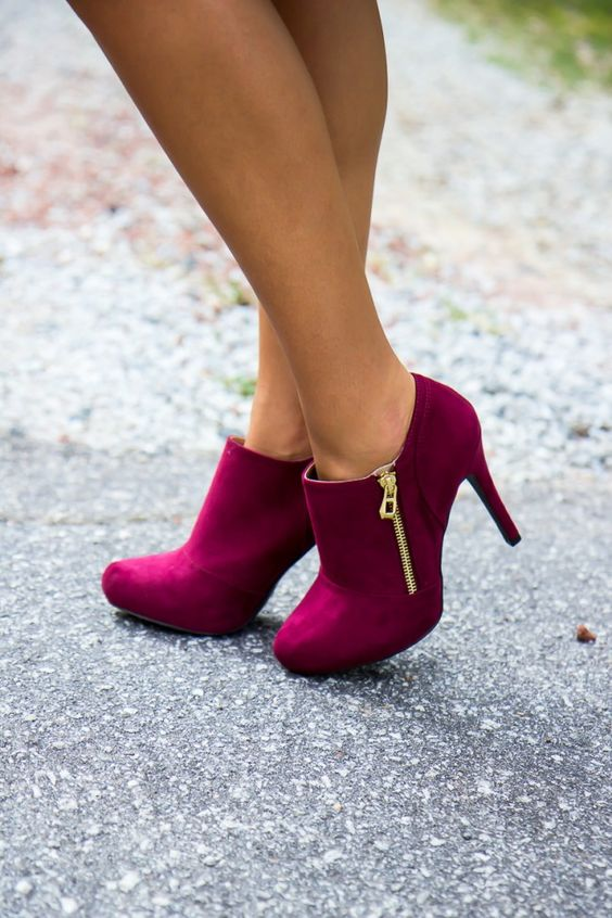 Purple Heels - Lovely Design and Elegant Style Casual Look