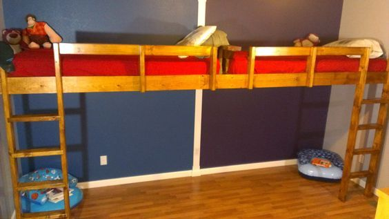 How To Build A Super Fun End To End Loft Bed For Kids Diy Loft
