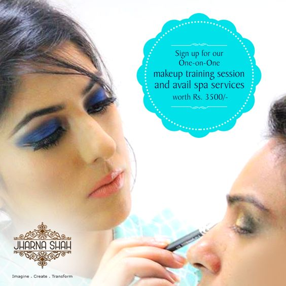 When you sign up for our special One-on-One Makeup Training Session,  you get to avail spa services worth Rs. 3500 at our spa. To avail this fabulous offer,  Call/ WhatsApp us on : +91-22-26102100/ +91-7506812909 or  email us on: bookings@jharnashah.com #offer #makeup #spa #mumbai