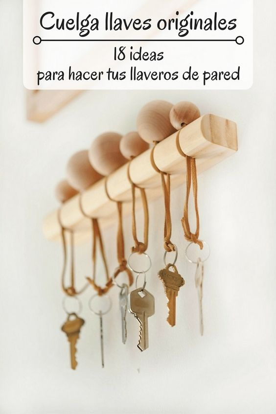 Cuelga llaves originales - Pinterest