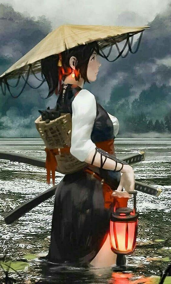 Warrior Girl Female Samurai Samurai Art Warrior Girl