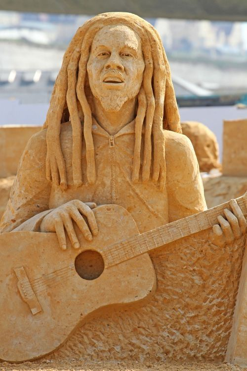 Bob Marley Recreated For The International Sand Sculpture Festival.