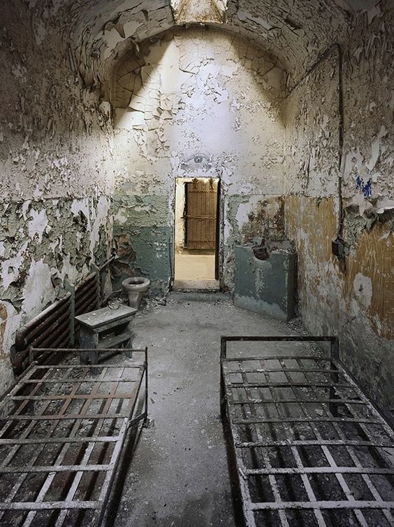 Eastern State Penitentiary II-Philadelpia. After 142 years, Eastern State was finally abandoned. Tours today include the cellblocks, Death Row, Al Capone's Cell and critically acclaimed art exhibits.  Many people believe that Eastern State Penitentiary is haunted. As early as the 1940s, officers and inmates reported mysterious visions and eerie experiences in the ancient prison.