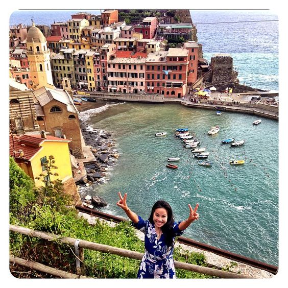 Excited To Finally Check #vernazza Off My Travel Bucket List! Worth The Hike To The Top! #yklovesitaly #ykmyway #cinqueterre By Yumi Kim