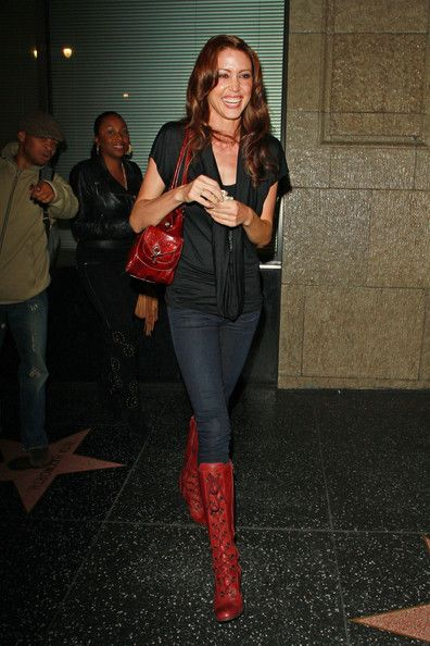 Shannon Elizabeth Lace Up Boots - Lace Up Boots Lookbook - StyleBistro