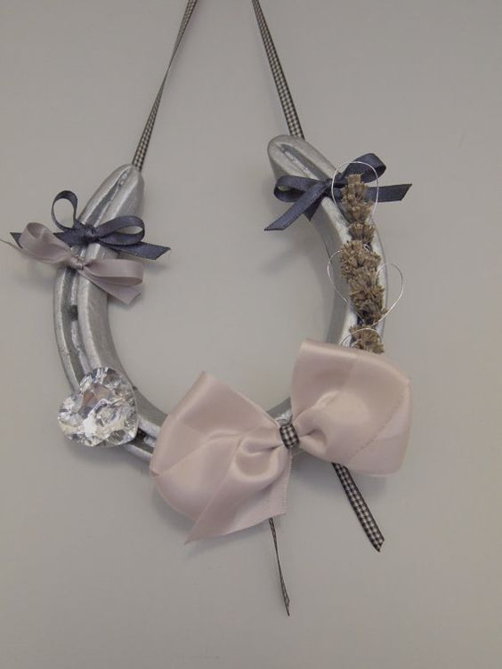 Silver Lucky Lavender Horse Shoe by AlexandraKingBridal on Etsy, £35.00