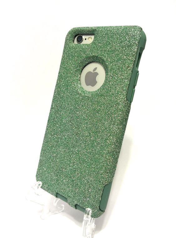Custom iPhone 6 4.7 inch Glitter Otterbox Commuter by NaughtyWoman