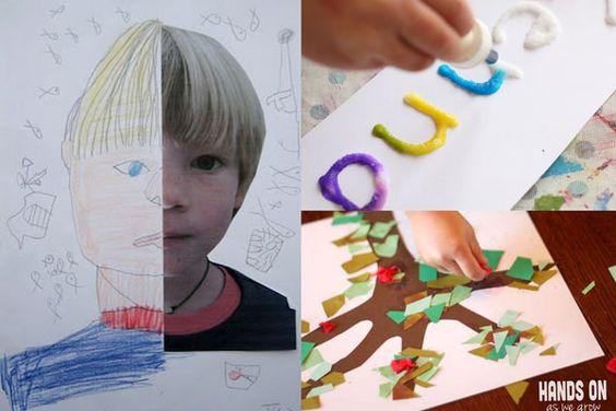 20 de nuevo a proyectos de arte de la escuela para los niños que hacer