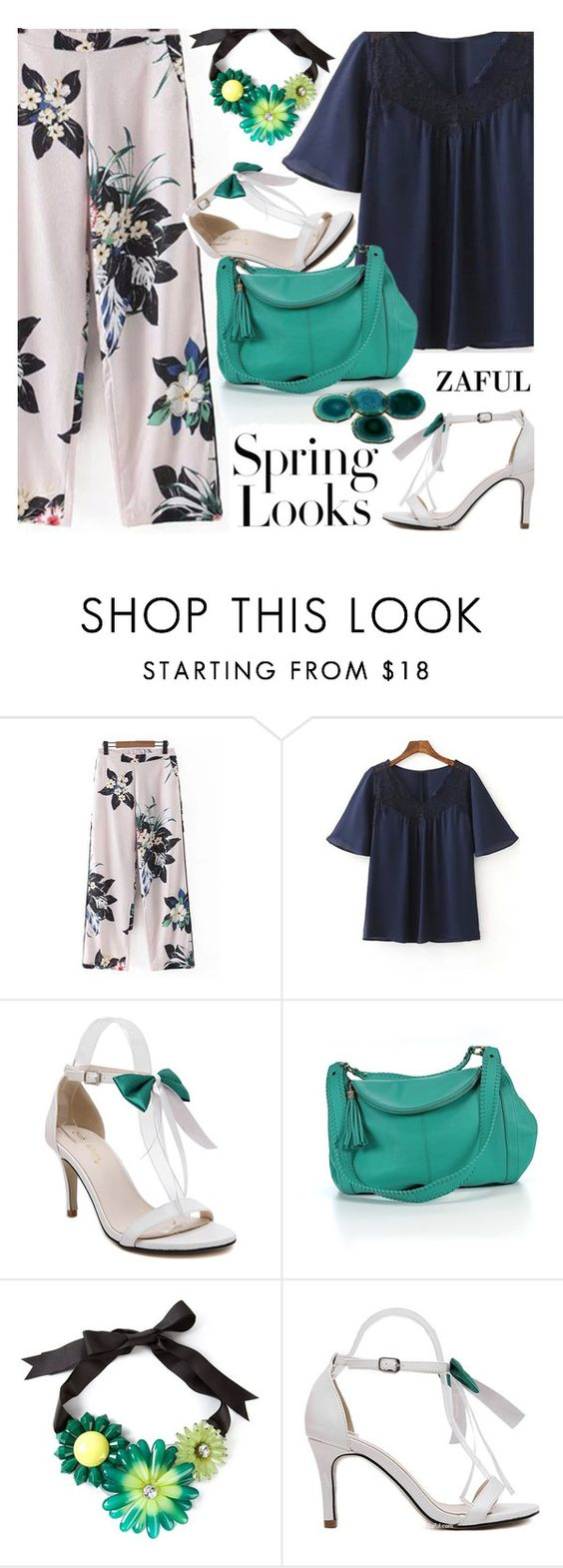 """Floral for spring"" by ansev ❤ liked on Polyvore featuring Onna Ehrlich, H&M, Marina Fossati, RabLabs and zaful"