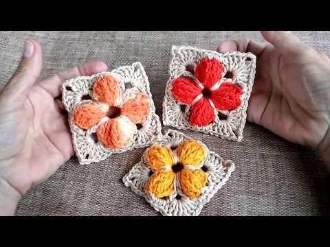 Square Quadrado Em Crochê Flor Passo A Passo Youtube Quadrados De Croche Flores De Crochê Padrões De Flores De Crochê