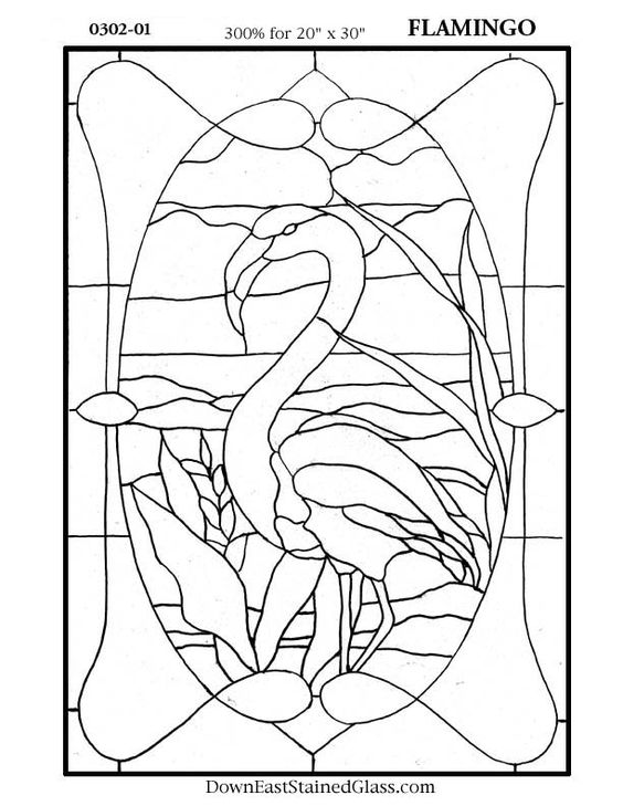 Flamingo Stained Glass Pattern Stained Glass Patterns