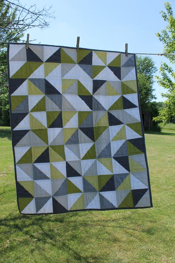 a modern geometric baby quilt.. $140.00, via Etsy.