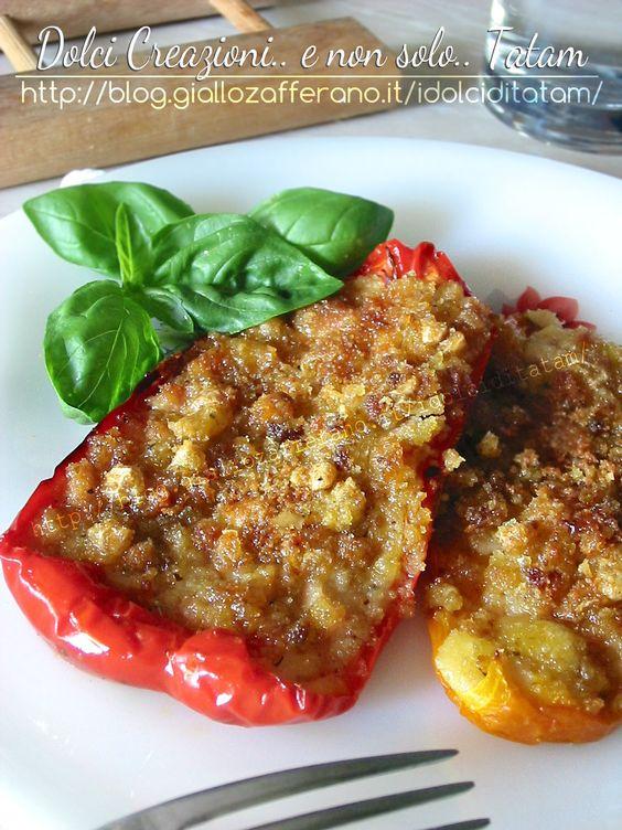 Peperoni ripieni di tacchino gratinato   ricetta al forno