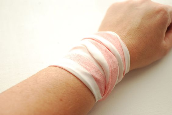 Rockabilly PINK Striped Wrap Bracelet Iron Wire Wrist Wrap Wrist Bracelet Fashion accessory Women Teens Wrist Tattoo Cover by stunninglooks on Etsy